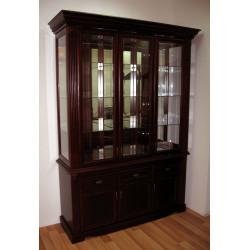 Шкаф с витриной 3-дверный Афина И010.22 высокий