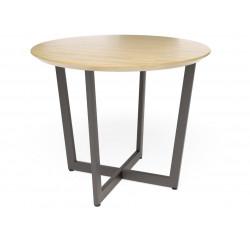 Обеденный стол Лофт О (шпон или массив дуба)