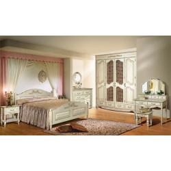 Спальня Фиерта белая с резьбой