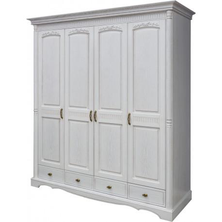 Шкаф 4-дверный Паола БМ-2164-01 (без зеркал)