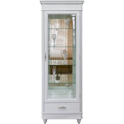Шкаф-витрина (правая) Юстина БМ-2371 в белом цвете