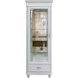 Шкаф-витрина (левая) Юстина БМ-2371-01 в белом цвете