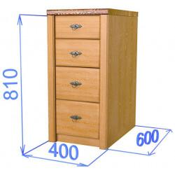 Шкаф-стол с 4-мя ящиками Хлоя КХ 03