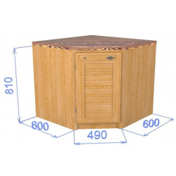 Шкаф-стол угловой с дверкой Хлоя КХ 13