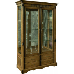 Шкаф-витрина 2-дверная Бланш 2280 БМ750