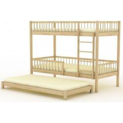 Кровать трехъярусная (выкатная) БР-16