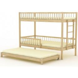 Кровать трехъярусная (выкатная) БР-16.1