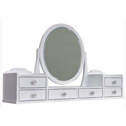 Зеркало-надставка БМ 2365 в белом цвете