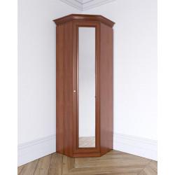 Шкаф Лилия угловой, зеркальный фасад