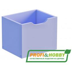Ящик для стеллажа P&H, сосна, эмаль лаванда