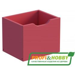 Ящик для стеллажа P&H, сосна, эмаль фуксия