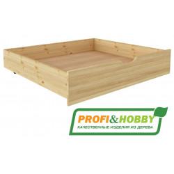 Ящик под 2-х ярусную кровать P&H сосна, без покраски