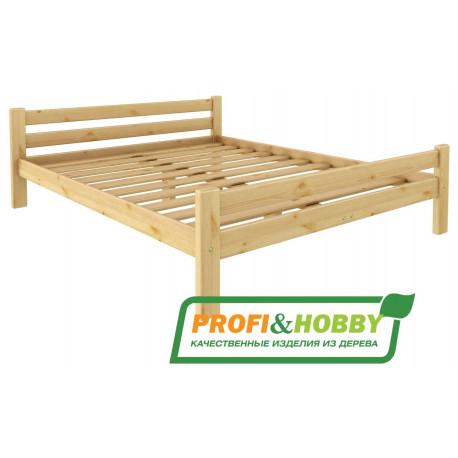 Кровать Классика (1800 х 2000) сосна, без покраски