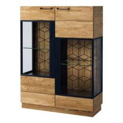 Витрина 2-дверная ,низкая Mosaic 15