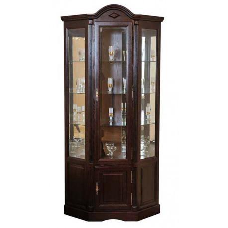Шкаф с витриной угловой Рубин ВМФ-6526
