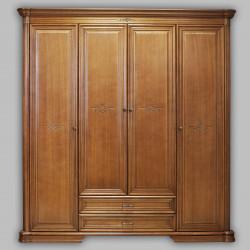 Шкаф для платья и белья Гермиона в цвете орех