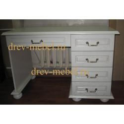 Стол письменный ВМФ-1192 Денвер-1 в цвете белая эмаль
