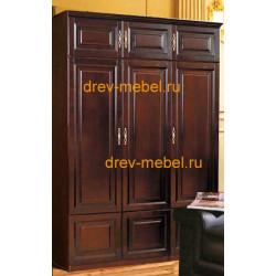 Шкаф 3-дверный комбинированный Орион с глухими дверцами (пример 1)