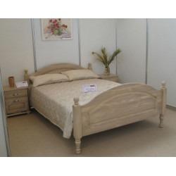 Кровать Лотос Б-9011Бр (160 на 200) с ножной спинкой (брашированный крем)