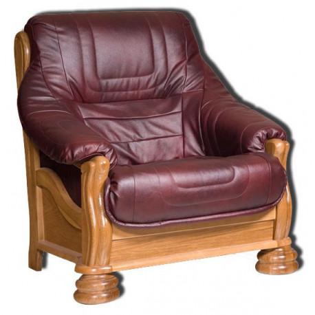 Кресло Цезарь БМ-1169-00-00/1К (дуб, натуральная кожа)