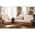 Набор Цезарь 2 (диван-кровать 3-местный + кресло), дуб, ткань