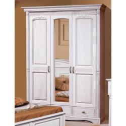 Шкаф 3-дверный с зеркалом Паола БМ-2165-01