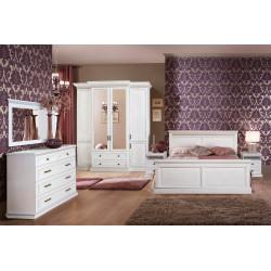 Спальня Олимпия с 4-дверным шкафом в эмали