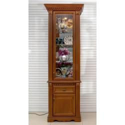 Шкаф с витриной 1-дверный Афина И010.20 высокий