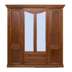 Шкаф 4-дверный Афина И010.01 с декором