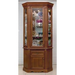 Шкаф с витриной угловой Афина И010.28 высокий