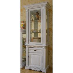 Шкаф с витриной 1-дверный Афина И010.20 в эмали