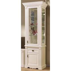 Шкаф с витриной 1-дверный Афина И010.20 высокий в эмали