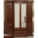 Шкаф 4-дверный Олимпия И005.01, цвета каштан