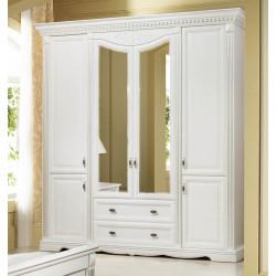 Шкаф 4-дверный Афина И010.01 с декором в эмали