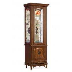 Шкаф с витриной 1-дверный Оскар И007.20 с декором и витражом