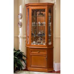 Шкаф с витриной угловой Олимпия Высокий И005.44