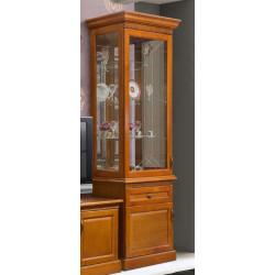 Шкаф с витриной 1-дверный Олимпия Высокий И005.25