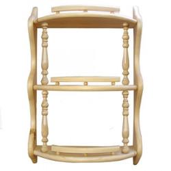 Полка прямая 3-ая с балясинами (42 см)
