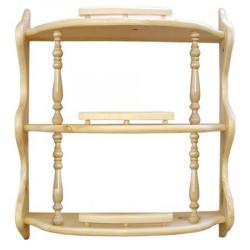 Полка прямая 3-ая с балясинами (60 см)