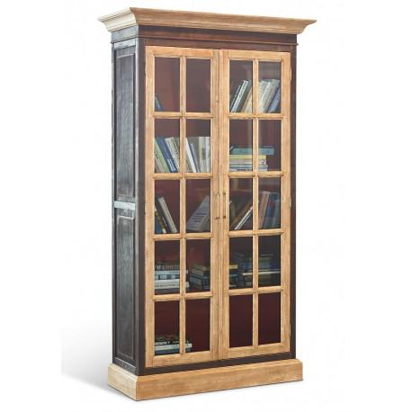 Шкаф-витрина со стеклом Винтаж (черный)