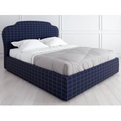 Кровать с подъемным механизмом K03 (140 на 200) в ткани с принтом