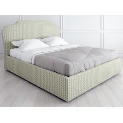 Кровать с подъемным механизмом K03 (180 на 200) в ткани с принтом