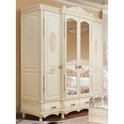 Шкаф 4-дверный И006.01 (ваниль с патиной орех)